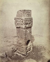 Ancient pillar found in Fort, Allahabad.